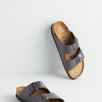 Boho Strappy Camper Sandal in Patent Grey by Birkenstock from ModCloth