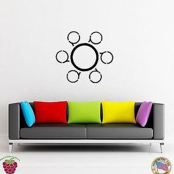 Vinyl Decal Wall Sticker Modern Abstract Cirle Living Room Bedroom Decor Unique Gift (z1600)