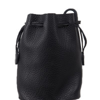 Cowhide Leather Bucket Bag | MIXXMIX