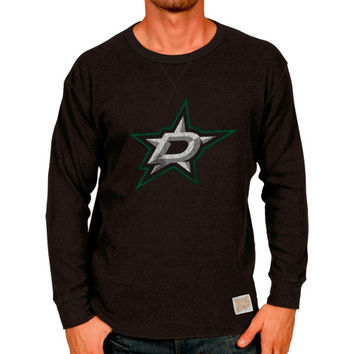 Original Retro Brand Dallas Stars Pebble Thermal Long Sleeve T-Shirt - Black