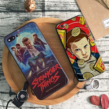 Stranger Things logo Coque Tpu Soft Silicone Phone Case Cover Shell For Apple iPhone 5 5S SE 6 6S 6Plus 6sPlus 7 7Plus 8 8Plus X