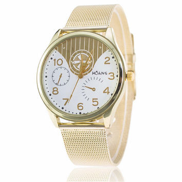 Womens Retro Hight Quality Gold Alloy Strap Watch Best Christmas Gift 413