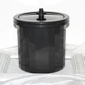 Vintage Tupperware Ice Bucket Black | 3 Pc Set | Inner Bucket | Outer Bucket & Lid | Ice Keeper | Ice Storage for Parties Tailgating