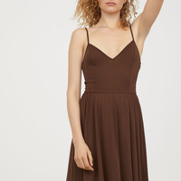 Sleeveless dress - Dark brown - Ladies | H&M GB