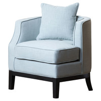 Laura Linen Corner Chair, Light Blue, Accent & Occasional Chairs