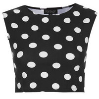 Spot Stretch Crop Tee - Bralets & Cropped Tops - Jersey Tops  - Clothing