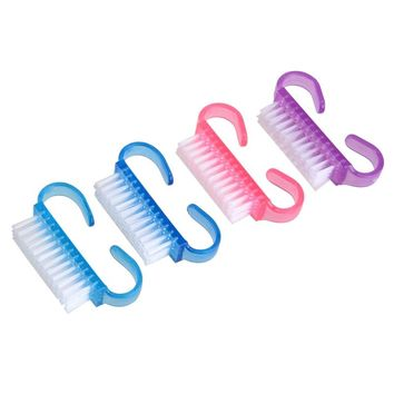 4pcs Handle Nail Brush Set