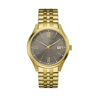 Caravelle New York by Bulova Men's Gold Tone Stainless Steel Watch (Yellow)