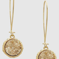 Druzy Drop Wire French Hook Earrings