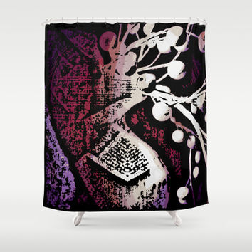 Purple Delight Shower Curtain by Stacy Frett