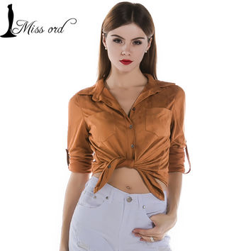 Missord Fashion Long Sleeved Button Tops (Various Colors)