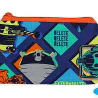 NEW Zipper Bag | Doctor Who | Zippered Pouch | Daleks | Hand Pouch | TARDIS