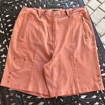 JAMIE SADOCK Women's Plus Size Burnt Orange Short, Size 16 1X