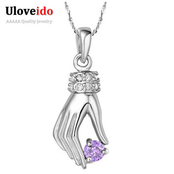 Necklaces & Pendants 925 Sterling Silver Necklace Pendant Women 2015 Fashion Jewelry Accessories Colares 20% off Ulove N362