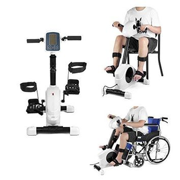 Recumbent Bikes for Seniors Stroke Rehab Electric Bicycle Trainer Motorized Exerciser Handicap Disabled Physical Therapy Exercise Bike Pedal for Leg / Arm Rehabilitation