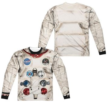 Astronaut Spacesuit Costume Long Sleeve T-shirt Front & Back