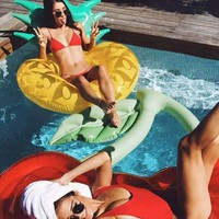 Pineapple Ring Lounge Floaty
