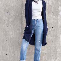 Emme Knit Cardigan - Navy