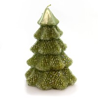 Christmas Sugared Tree Candle Decorative Candle