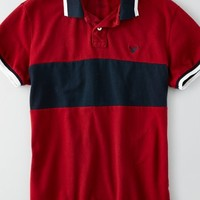 AEO Men's Colorblock Stripe Polo