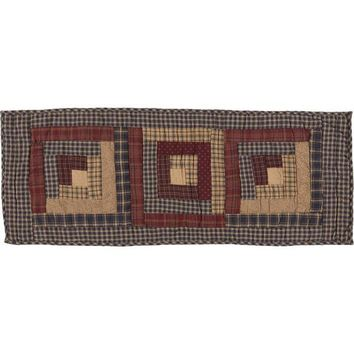 Millsboro Runner Log Cabin Block Quilted 13x48
