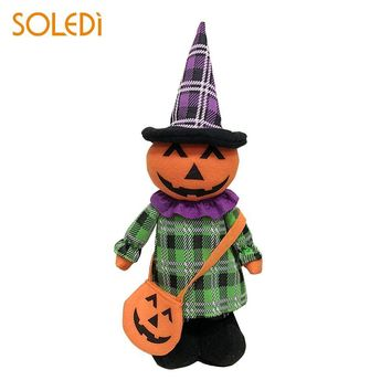 Halloween Doll Plush Doll Halloween Decoration Lovely Beautiful Extensible Cloth Ghost Witch Pumpkin Black Cat