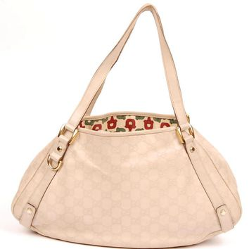 Gucci 4718 Leather Medium Abbey Tote Shoulder Bag (Authentic Pre-owned)
