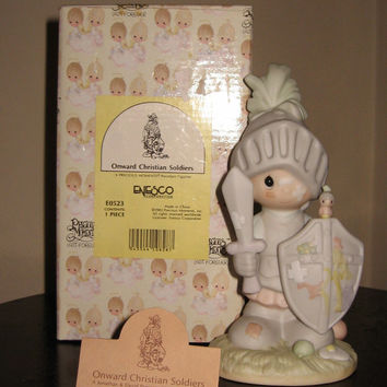 Precious Moments Onward Christian Soldiers Porcelain Figurine Enesco Retired MIB