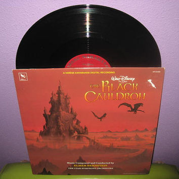 Rare Vinyl Record Disney's The Black Cauldron Original Soundtrack LP 1985 Animated Classic