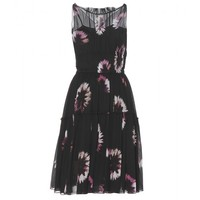 nina ricci - silk-chiffon printed dress