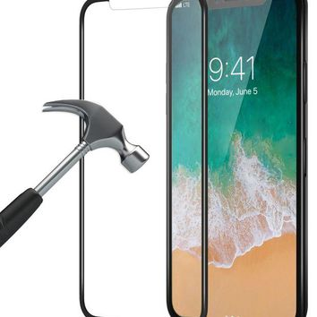 ONETOW Bovon iPhone X Screen Protector, [3D Full Coverage] [9H Hardness] [Ultra Clear] [Scratch Proof] [Bubble-Free] [Case-Friendly] Tempered Glass Screen Protector Film for Apple iPhone X / iPhone 10 [2017]