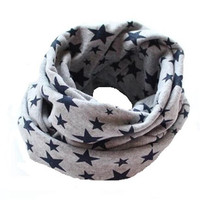 Fashion Stars baby bibs Cotton baby scarf Spring Winter Warm Kids Scarf for Boys and Girls Bufandas Infantiles