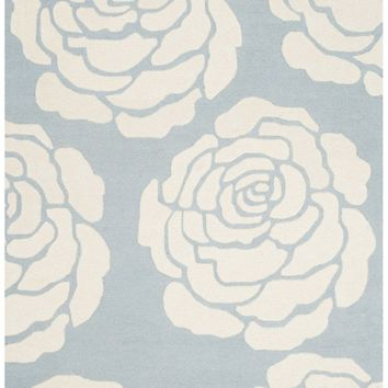 Cambridge Contemporary Indoor Area Rug Blue / Ivory
