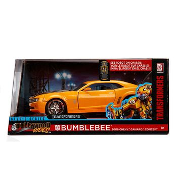 Jada Diecast Metal 1:24 Scale Transformers Chevy 2006 Camero Bumblebee- Presell 4/30 Release