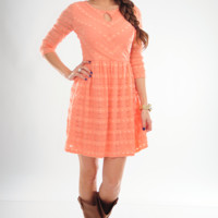 In The Morning Sun Dress: Tangerine | Hope's