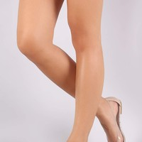 Bamboo Transparent Pointy Toe Flat