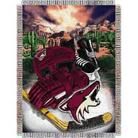 Phoenix Coyotes NHL Woven Tapestry Throw (Home Ice Advantage) (48x60)