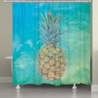 Blue Hawaiian Pineapple Shower Curtain