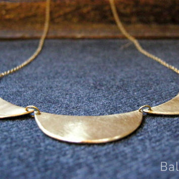 golden necklace, brass, bridal necklace, bridesmaid gift, valentines present, baladi, hand made, rustic, fabulous necklace
