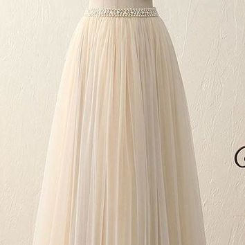 New Fashion Two Parts High Neck Sexy Long Prom Gown Maxi Party Dress