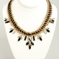 Chunk of Chains Gold and Black Necklace