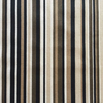 Set of 2 Pillow Covers 18x18 inch- Free US Shipping - Brown/Tan/Neutrals Stripe