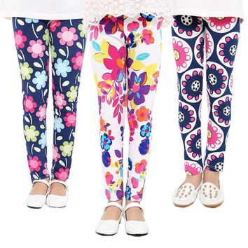 Cute Printed Girls Ankle Leggings Assorted Styles