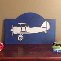 Airplane sign for nursery baby room decor handmade wood sign baby shower gift new baby present