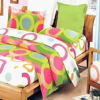 Rhythm of Colors 8PC Comforter Set Combo Queen: Baby Bedding | Kids Bedding | Rag Quilts | Kids Rooms | Quilts Just 4 Kids