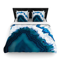 "KESS Original ""Blue Geode"" Nature Photography Woven Duvet Cover"
