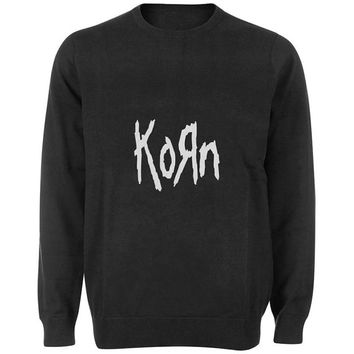 korn sweater Black and White Sweatshirt Crewneck Men or Women for Unisex Size with variant colour