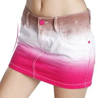 Nice Pink &white Jeans skirt