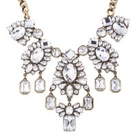 Rose Crystal Bib Necklace