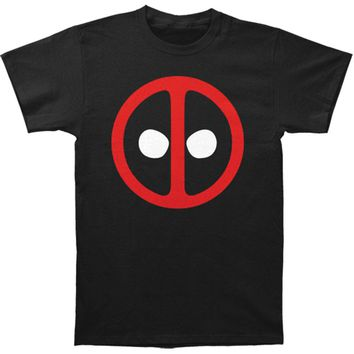 Deadpool Men's  Logo Slim Fit T-shirt Black